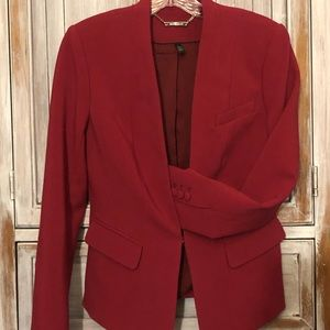 Red women's suit jacket